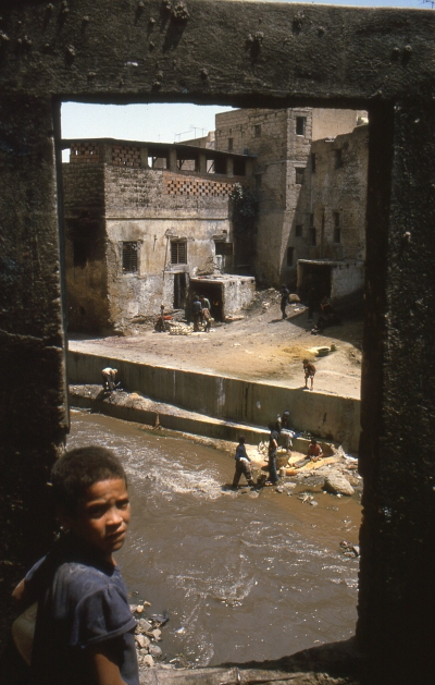 River view in Fes, Morocco